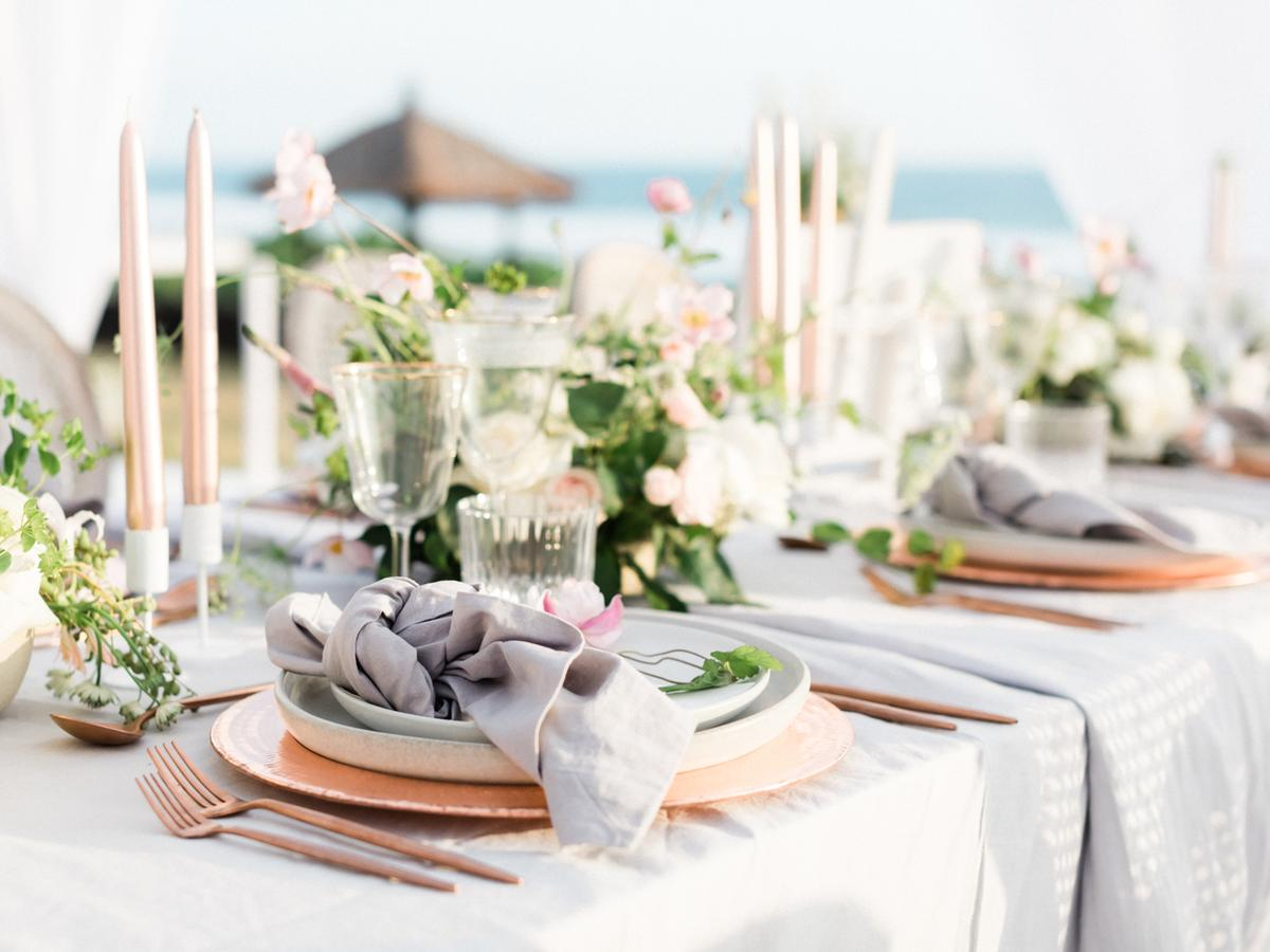 An Elegant Marble and Rose Gold Wedding