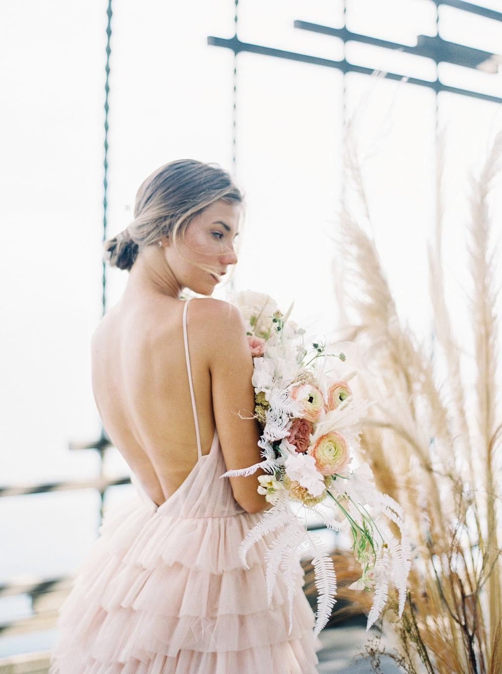 The Dreamiest Ruffled Wedding Dress
